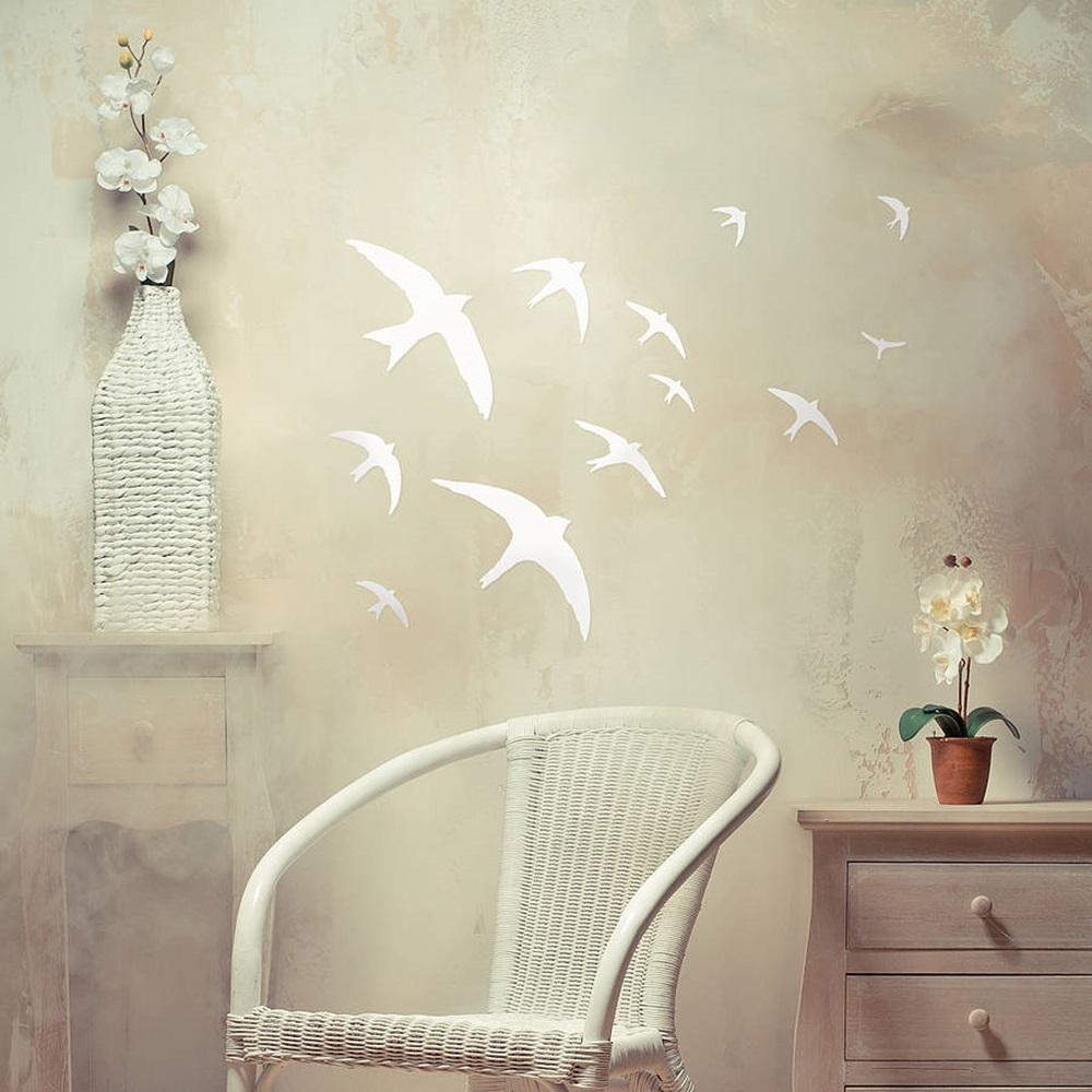 BIRDS WALL STICKERS In White