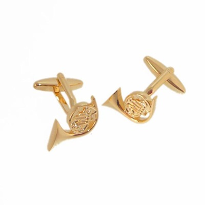 Mens Cufflinks in French Horn Design