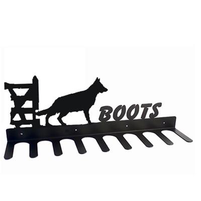 BOOT RACK in German Shepherd Design