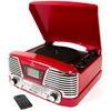 Retro Record Player with MP3, FM Radio & CD in Red