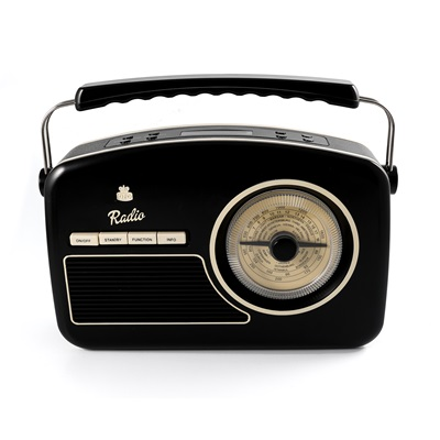 GPO RYDELL VINTAGE DAB RADIO in Black