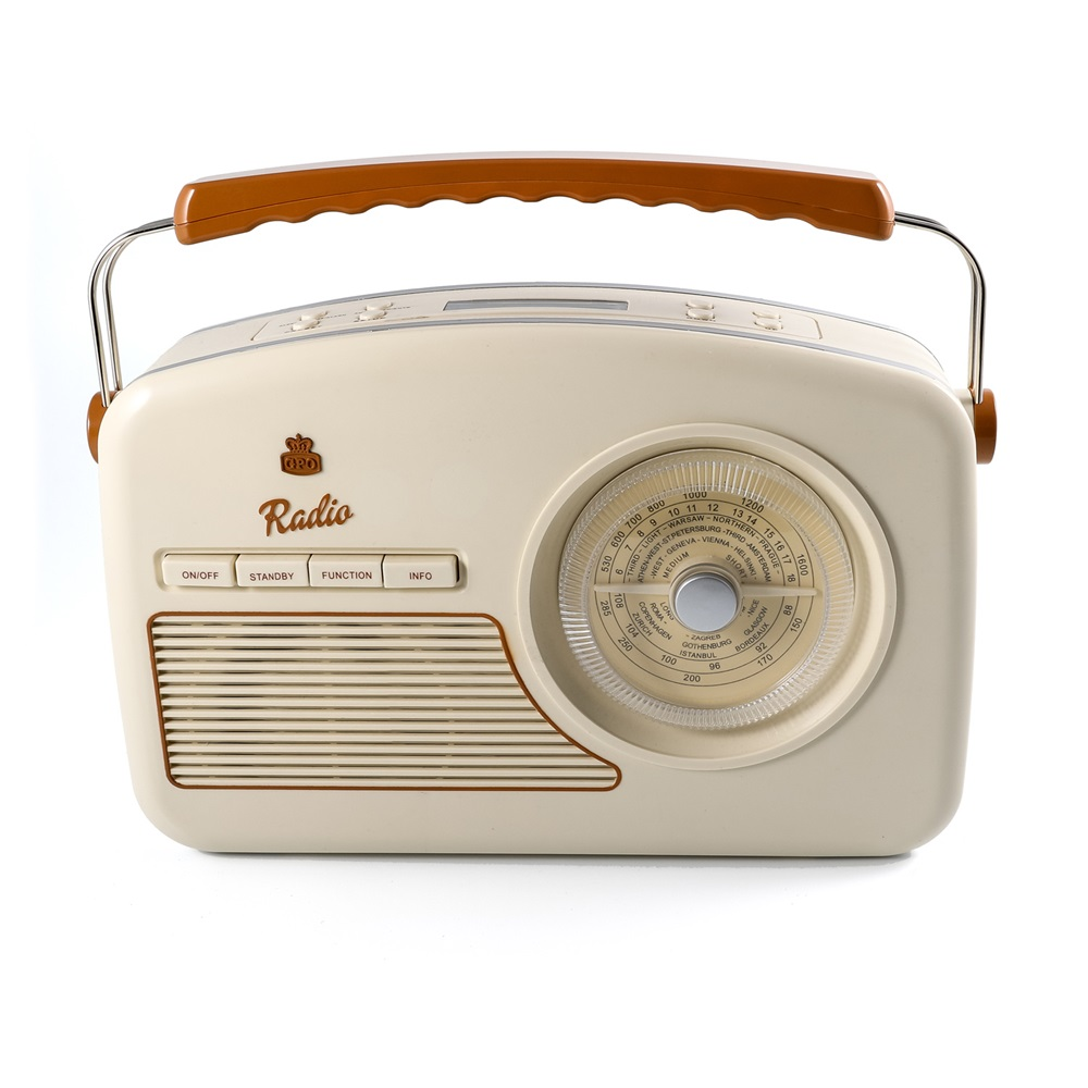 gpo rydell vintage dab radio in cream retro gifts cuckooland. Black Bedroom Furniture Sets. Home Design Ideas