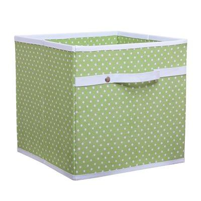 STORAGE BOX in Dotty Green