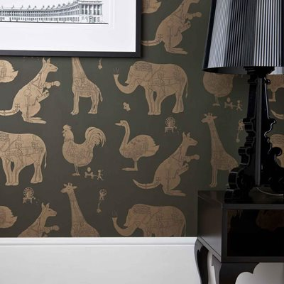 DESIGNER KIDS WALLPAPER- 'How it Works' in Green