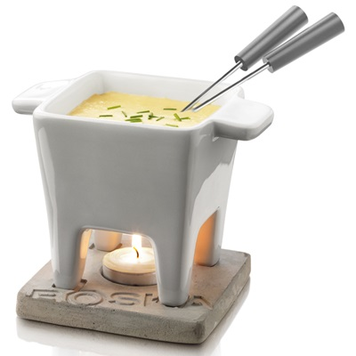 TAPAS Cheese Fondue Set Grey