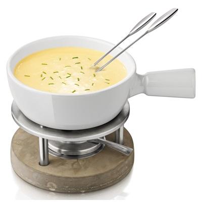 CHEESE Fondue Set Grey