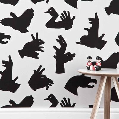 DESIGNER KIDS WALLPAPER- 'Hand Made' in Grey