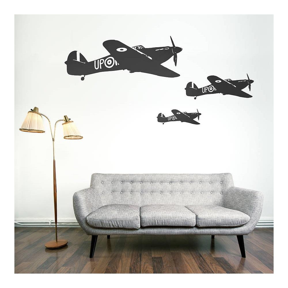 HAWKER HURRICANE WALL STICKER Wall Art Wallpaper