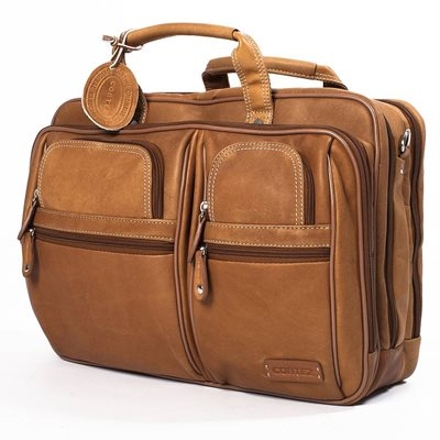 TRAVELLER OVERNIGHT LAPTOP BRIEFCASE In Tan by Adventure Avenue