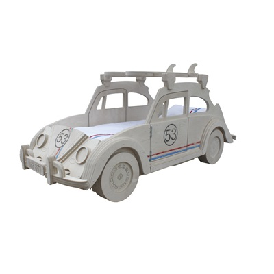 BEETLE HERBIE THEMED KIDS BED with Surf Board Storage