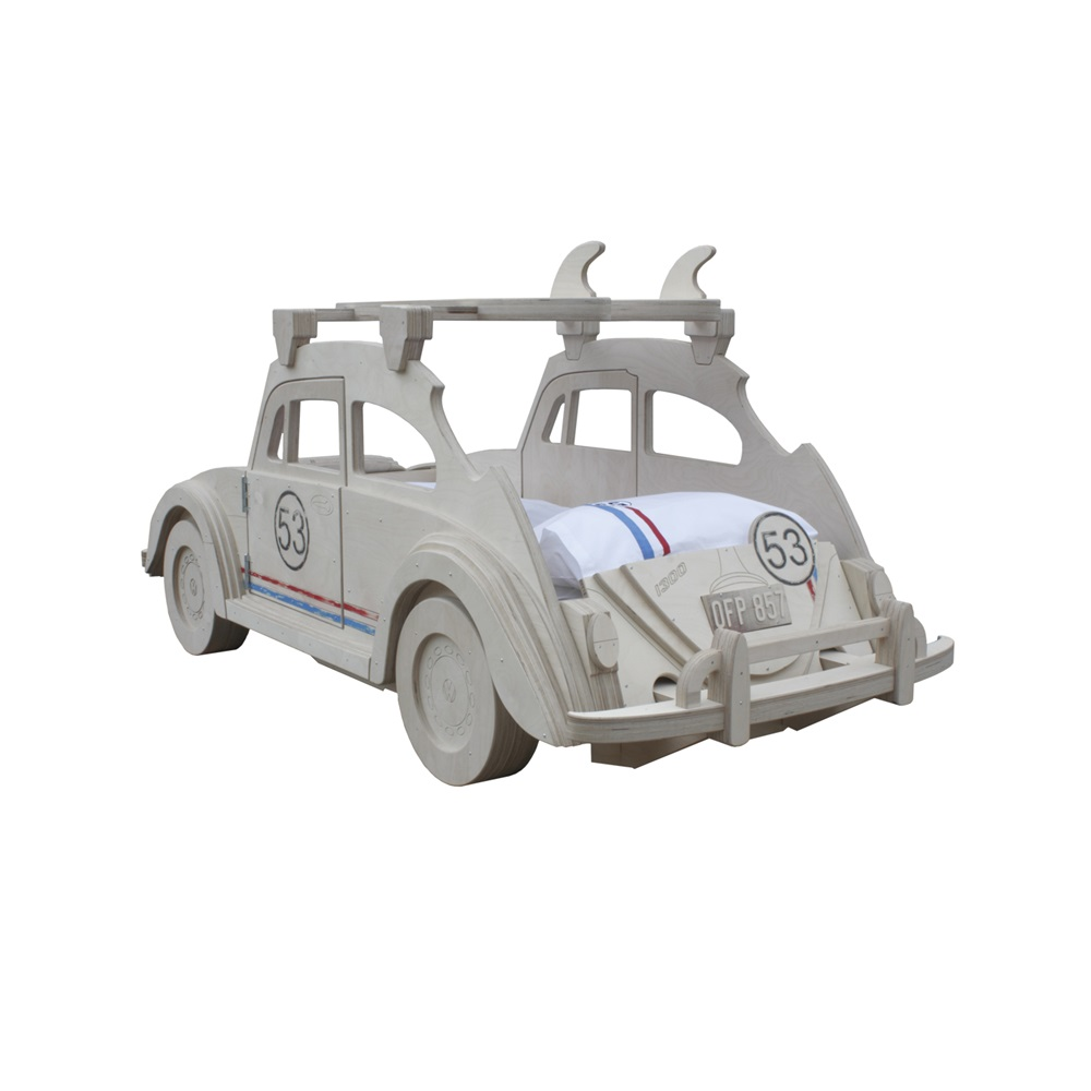 Beetle Herbie Themed Kids Bed With Surf Board Storage ...