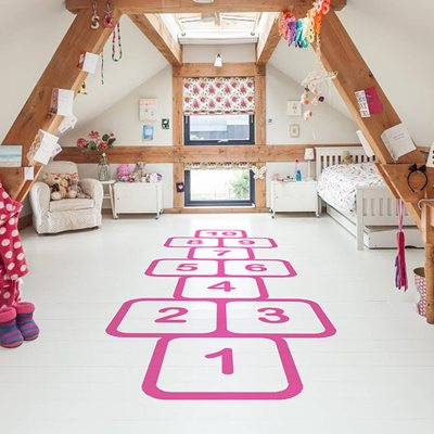 HOPSCOTCH FLOOR STICKERS in Pink