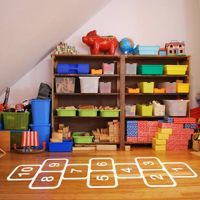 HOPSCOTCH FLOOR STICKERS in White