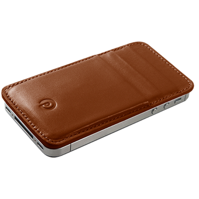 PATRONA MAGNETIC iPhone Wallet in Acorn Brown