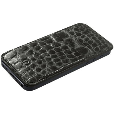 PATRONA MAGNETIC iPhone  Wallet in Crocodile Black Pearl