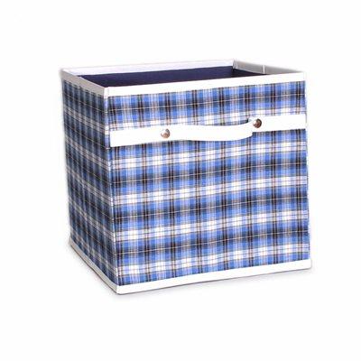 STORAGE BOX in Check Design