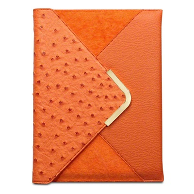 SUKI Faux Leather Ipad Case in Orange by Covert
