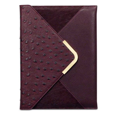 SUKI Faux Leather Ipad Case in Maroon by Covert