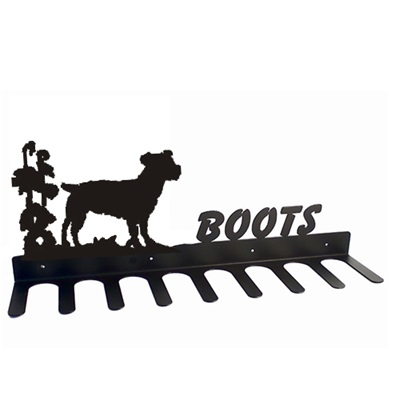 BOOT RACK in Jack Russell Design