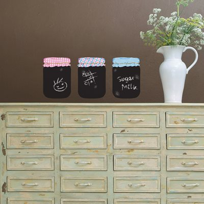 CHALKBOARD WALL STICKER in 'Jam Jar' design