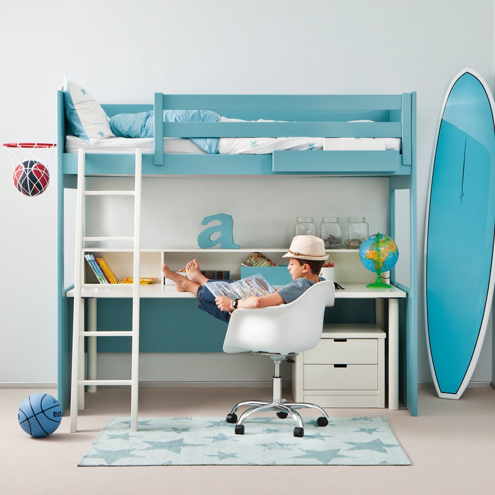 loft bed kids beds for diy white with ana desk projects