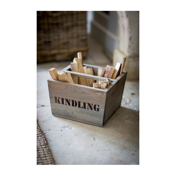 Wooden Kindling Box