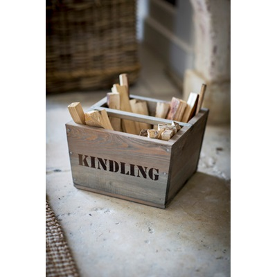 WOODEN Kindling Box by Garden Trading