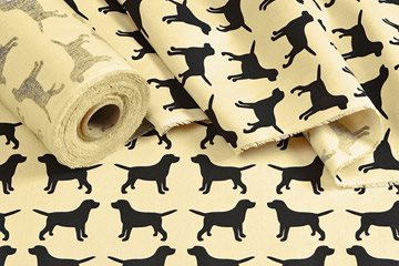 LABRADOR PATTERN Cotton Drill Fabric