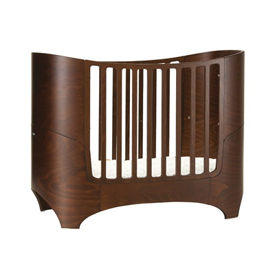 Leander Baby Bed & Mattress In Walnut