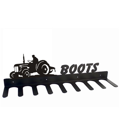 BOOT RACK in Little Blue Tractor Design