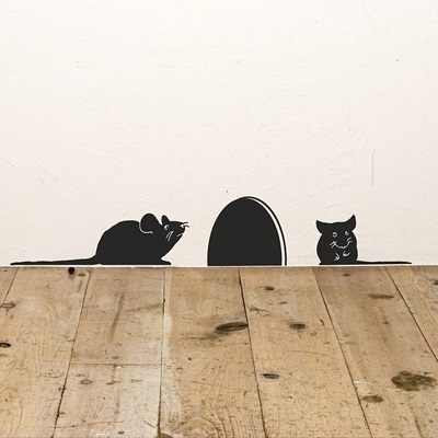 MICE WALL STICKER in Black