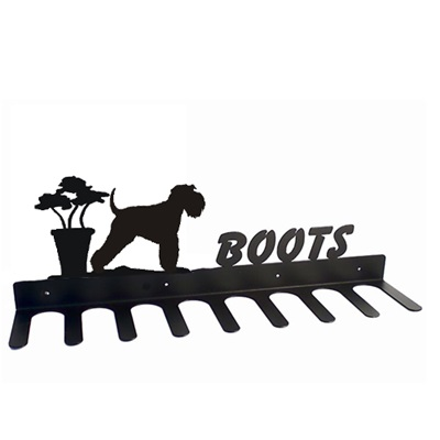 BOOT RACK in Miniture Schnauzer Design