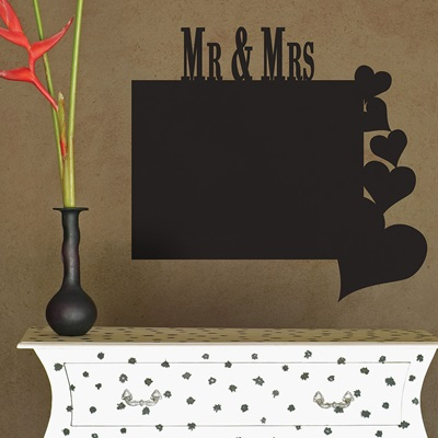 CHALKBOARD WALL STICKER in 'Mr & Mrs' design