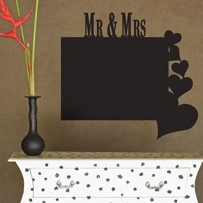 CHALKBOARD WALL STICKER in 'Mr & Mrs' design
