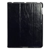 NAPPALI Leather iPad Case in Black by Covert