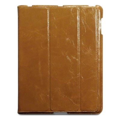 NAPPALI Leather iPad Case in Tan by Covert