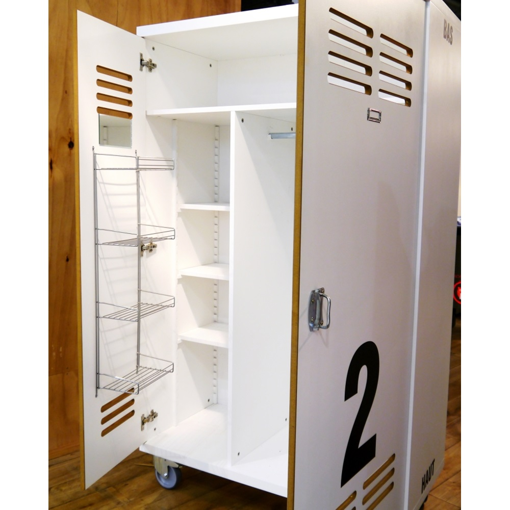 kids wardrobe in worker design mathy by bols cuckooland. Black Bedroom Furniture Sets. Home Design Ideas