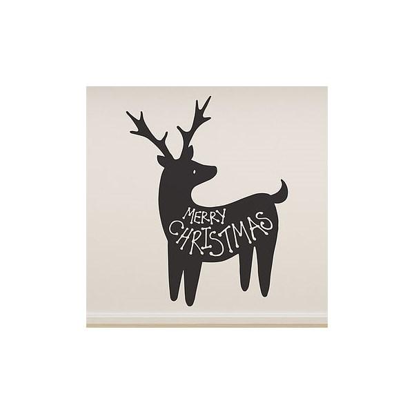 Merry Christmas Wall Sticker in Reindeer Design