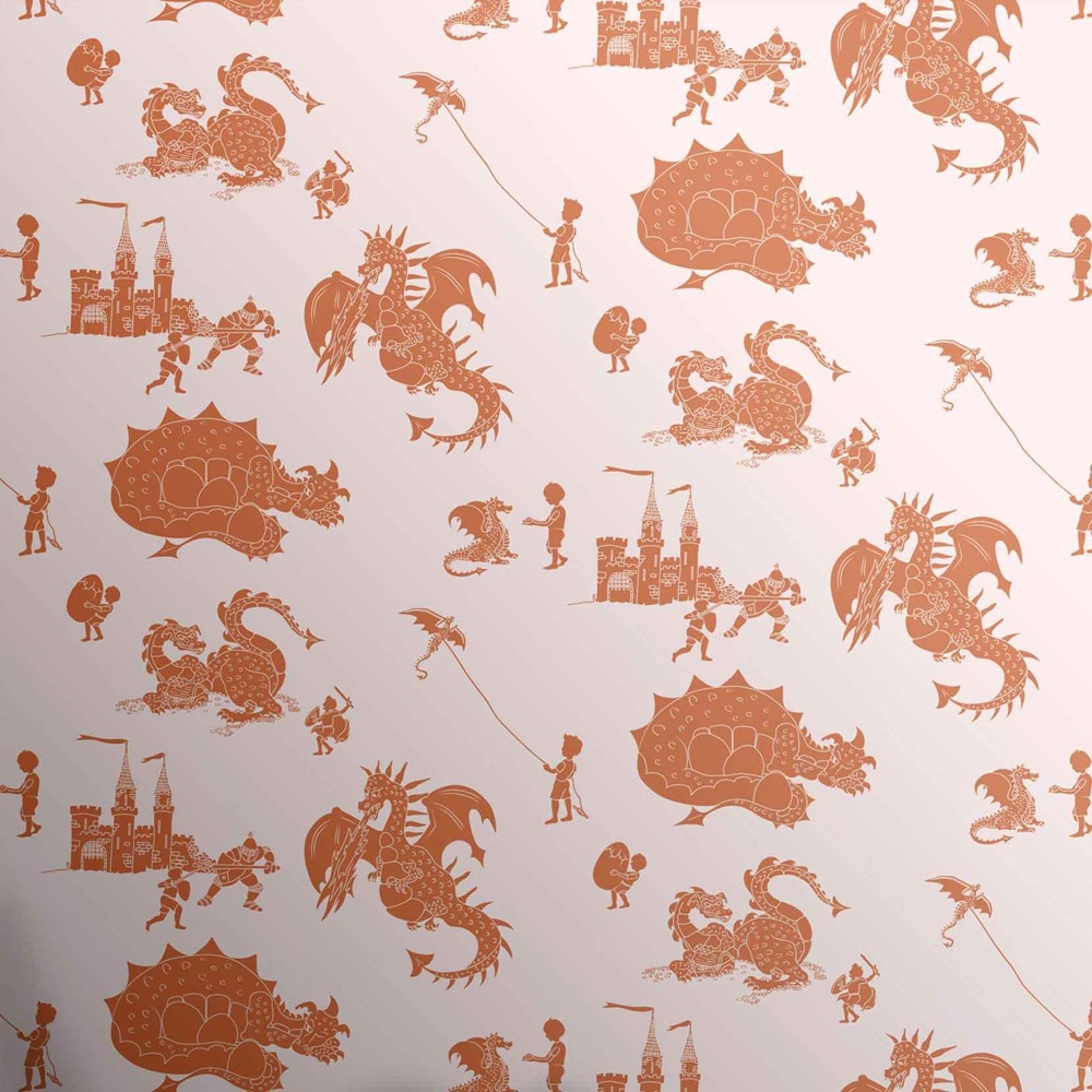 Orange Bedroom Wallpaper Designer Kids Wallpaper Ere Be Dragons In Orange Bedroom Decor
