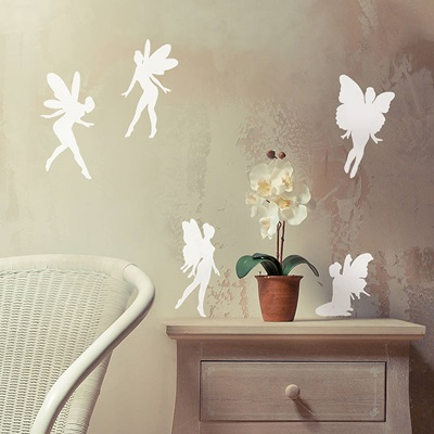 FAIRY WALL STICKER SET in White