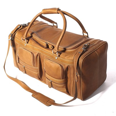 WOODLAND LEATHER CARGO LEATHER HOLDALL In Tan by Adventure Avenue