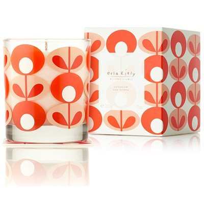 Orla Kiely Scented Candle in Geranium and Myrrh