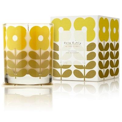 Orla Kiely Scented Candle in Primrose & Bergamot