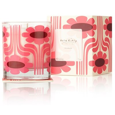Orla Kiely Scented Candle in Rhubarb
