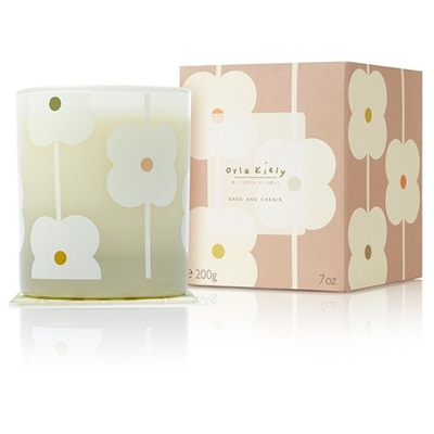 Orla Kiely Scented Candle in Sage & Cassis
