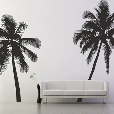 WALL STICKER in 'Palm Tree' design