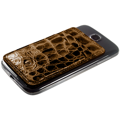 PATRONA MAGNETIC Samsung S3/S4 Wallet in Crocodile Acacia Tree Brown