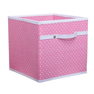 STORAGE BOX in Dotty Pink
