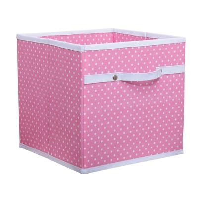 STORAGE BOX in Dotty Pink