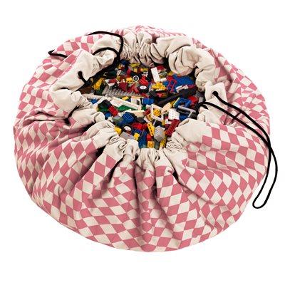 PLAY & GO TOY STORAGE BAG in Pink Diamonds Design
